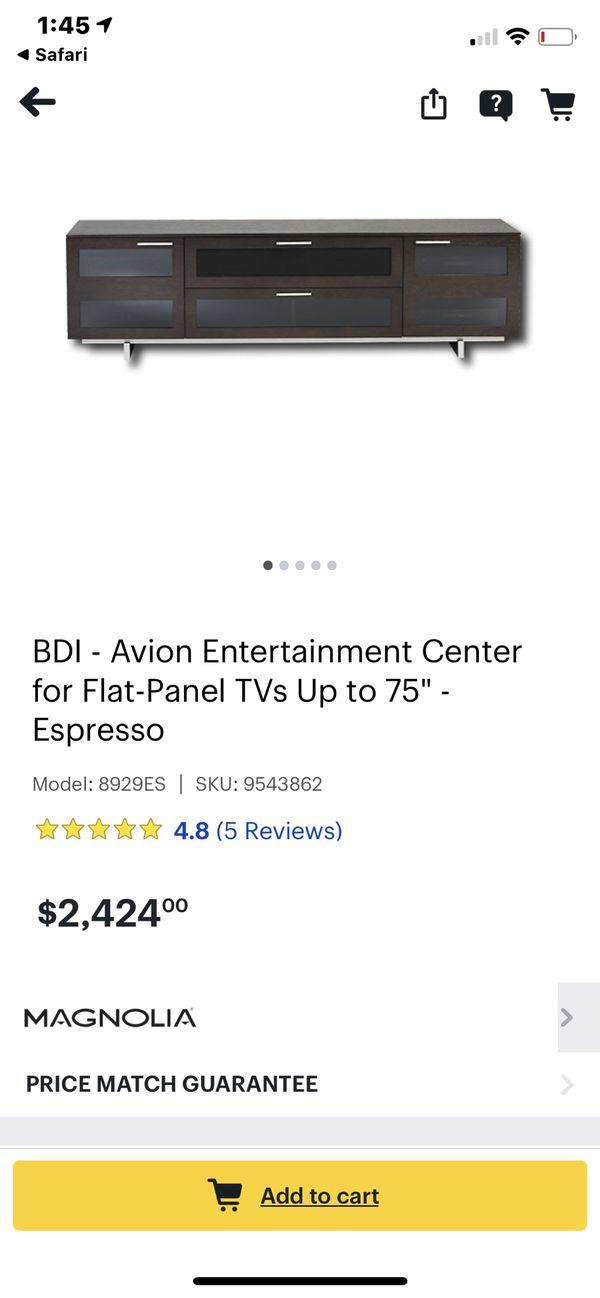 Bdi Furniture Avion triple wide Tv Stand