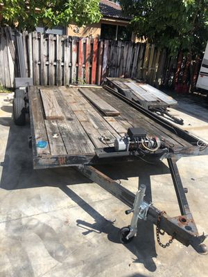 Trailer with winch for Sale in Miami Gardens, FL