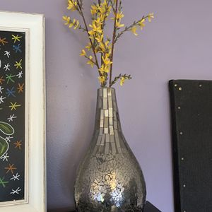 Classy Decor Vase With Fake Flowers for Sale in Washougal, WA