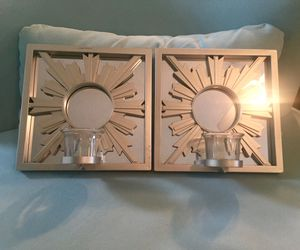 2 for $5 Silver Elegant Mirrored Wall Candles (If Posted, Still Available) for Sale in Orlando, FL