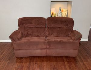 Stanton Maroon Microfiber Wide 2-Seat Manual Dual Reclining Couch for Sale in West Linn, OR