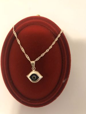 Sterling silver necklace with BLUE EYES OF MARIA for Sale in Dallas, TX