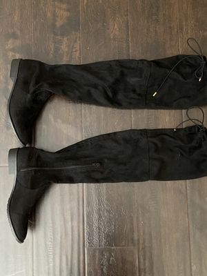 Black women's thigh high boots size 7 like New for Sale in Murrieta, CA