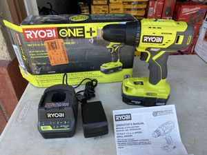 "Ryobi 18v 1/2"" 2 Speed Drill Driver Kit for Sale in Ontario, CA"