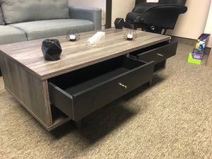 CMC Coffee Table / Center Table, Distressed Grey and Black for Sale in Santa Ana, CA