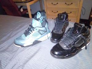 Air Jordans 2 pair 4 $100 black lab11 4s +retro 4s for Sale in Largo, FL