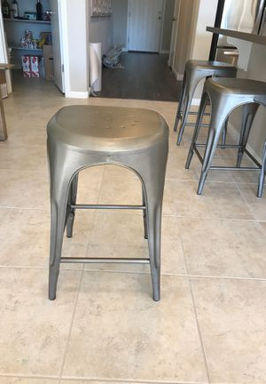 Restoration Hardware- 3 Remy Backless Stools in Gunmetal finish for Sale in Las Vegas, NV