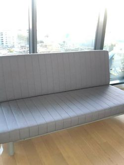EXCELLENT CONDITION Ikea Convertible TWIN To Full Sz Futon Sleeper Couch Sofa Loveseat Daybed w/Mattress for Sale in Montebello,  CA