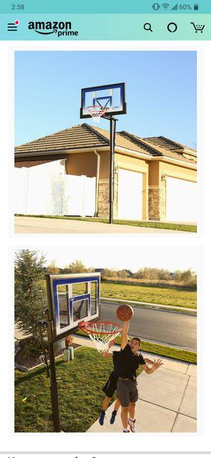 In ground adjustable basketball hoop for Sale in Las Vegas, NV