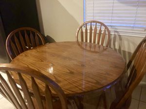 Breakfast Table and 4 Chairs for Sale in Spring, TX
