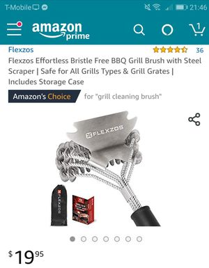 Barbeque grill brush with steel scraper- new for Sale in Naperville, IL