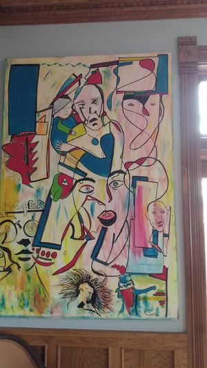 Awesome! Huge! Painting 6'x4' artist signed for Sale in Evansville, IN