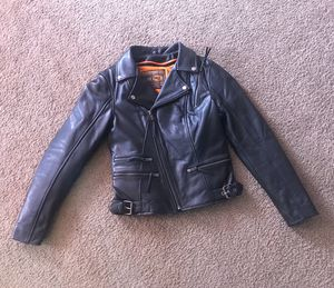 Women's leather motorcycle jacket for Sale in Edgemere, MD