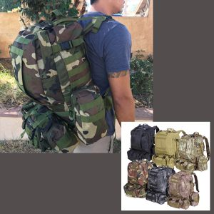 New 55L Hiking Camping Backpack Rucksack Tactical Compartments Shoulder Hip Straps for Sale in Riverside, CA