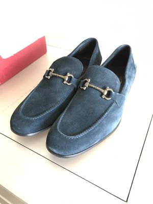 Salvatore Ferragamo Blue Suede loafers, sz 9.5 for Sale in Washington, DC