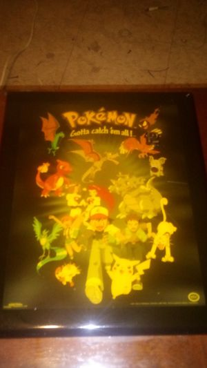 old school regional Pokemon clock all it needs is just the hands that tells the time for Sale in Phoenix, AZ