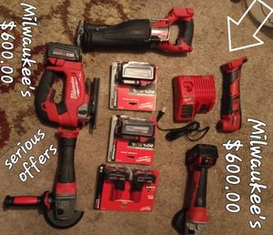 Milwaukee tools used and brand new serious offers only for Sale in Millbrook, AL