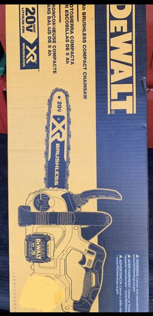 Dewalt XR 20V Chainsaw (TOOL ONLY) for Sale in San Jose, CA
