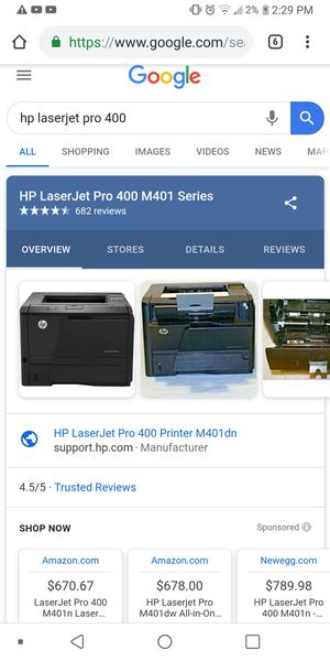 HP laser Jet Pro 400 M401n for Sale in Mobile, AL