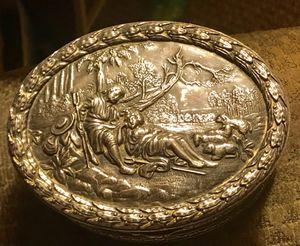 Wonderful old silver plate trinket box for Sale in Nocatee, FL