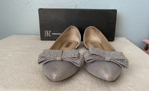 INC Silver Studded Bow flats 9.5M for Sale in San Diego, CA