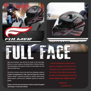 Fulmer Full Face Adult Motorcycle Helmet DOT approved for Sale in Marksville, LA