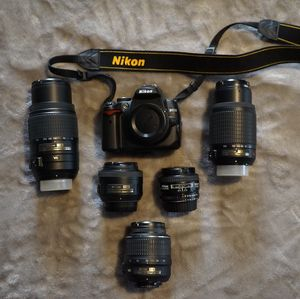 Nikon DSLR and Lenses and Backpack for Sale in Los Angeles, CA