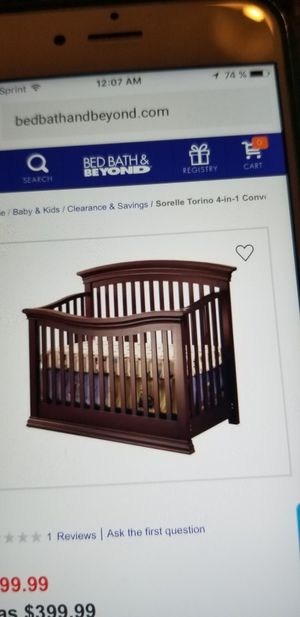 baby crib for Sale in Alexandria, VA