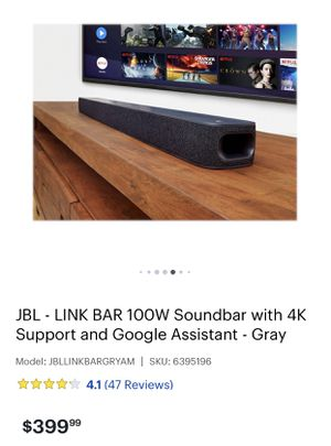 JBL sounbar with google assistant and wireless subwoofer for Sale in Kingsburg, CA