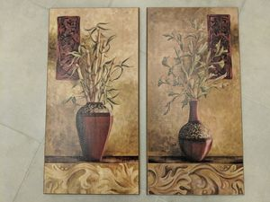 Asian themed wall art. Set of 2. Room decor. 1' x 2' for Sale in Greer, SC