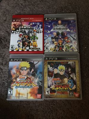 Naruto, Kingdom Hearts PS3 Video Games for Sale in Henderson, NV