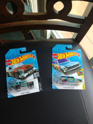 Hot Wheels bundle. 55 Nomad, & 64 Chevy Nova Wagon. Card 2017. Both for $8. for Sale in Redmond, WA