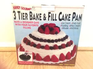 Handy Gourmet 3 Tier & Fill Cake Pan for Sale in Gaithersburg, MD