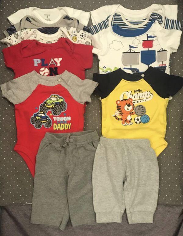 Baby boy clothes lot 0-3 mo