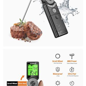 Digital Meat Thermometer Instant Read for Cooking, Grilling, BBQ, Baking, Turkey - Mini6 IP65 Waterproof Kitchen Food Thermometers with Large 3 Colors for Sale in Annandale, VA
