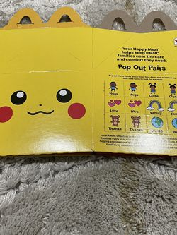 Mcdonald's Pokémon Cards Pikachu Happy Meal Box for Sale in North Bend,  WA