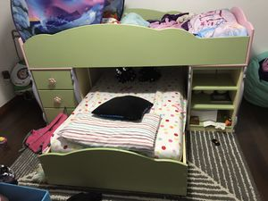 Girls twin loft bed top doll house model for Sale in Oregon City, OR