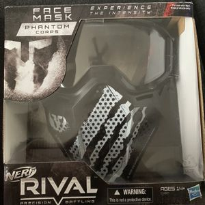 NERF Rival Face Mask (Black/White) for Sale in Hopewell Junction, NY