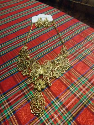 Beautiful butterfly necklace set for Sale in Falls Church, VA