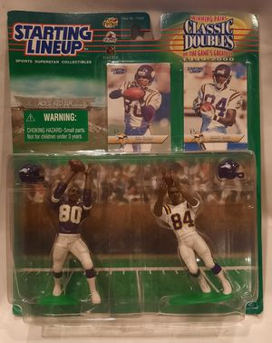 Rare Unopened Randy Moss Cris Carter Minnesota Vikings 1999 Classic Doubles Starting Lineup SLU Combo Pack for Sale in San Jose, CA
