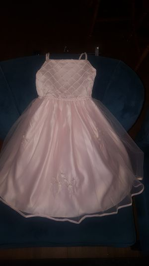 2 New flower girl dresses with beautiful beadwork and buttons size 3 and size 12 for Sale in Gilbert, AZ