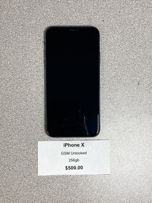 iPhone X GSM unlocked 256gb for Sale in Irwin, PA
