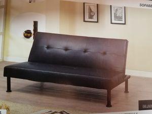 Black PU Futon Sofa bed ( new) for Sale in San Mateo, CA