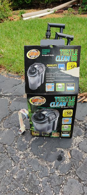ZooMed Turtle Clean 50 + new carbon cartridges for Sale in La Grange, IL