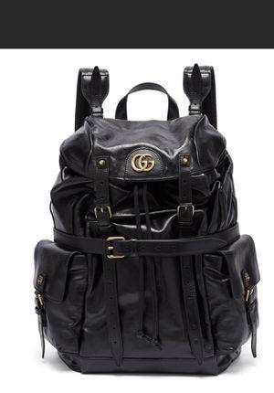 Gucci GG Black Leather & Suede Crinkled Backpack W/ Removable Belt for Sale in Kirkland, WA