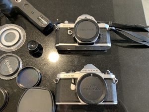 Pentax cameras, filters , grip and flash for Sale in San Jose, CA