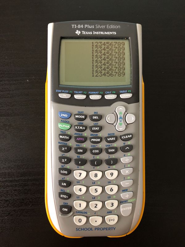 Texas Instruments TI-84 plus silver edition