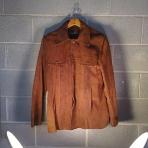 Vintage Sears Western Brown Suade Jacket for Sale in Holden Beach, NC