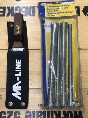 "Heavy duty 11"" duct board knife, HVAC lineset bending spring set, & Husky 10"" metal snips, all items in fantastic condition for Sale in Bradenton, FL"