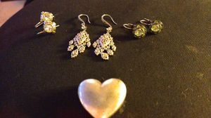 STERLING SILVER EARRINGS WITH TIFFANI & COMPANY PENDANT for Sale in San Diego, CA